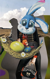Bunny, collage 216-2017